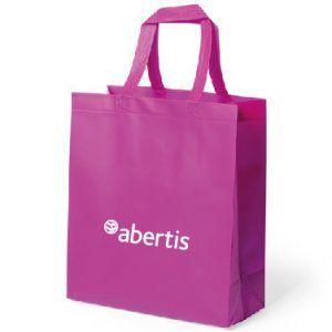 Bolsa de rafia con logo de Abertis