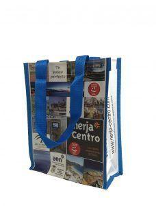 Bolsa de rafia con logo de Nerja