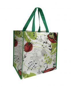 Bolsa de rafia con logo verduras