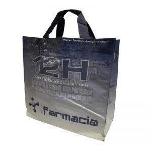 Bolsa de rafia con logo de farmacia 24h