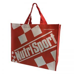 Bolsa de rafia con logo NutriSport