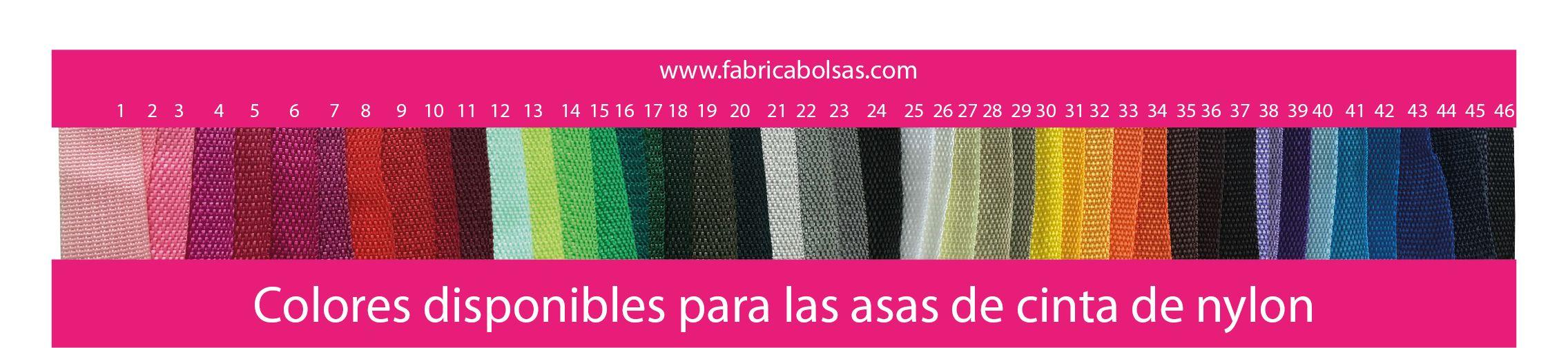 colores cinta de nylon asas bolsas de rafia