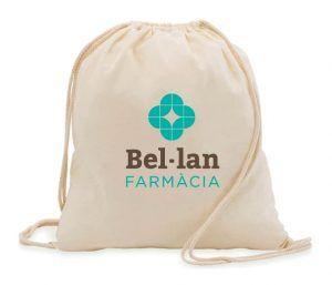 Mochila de algodón con logo farmacia