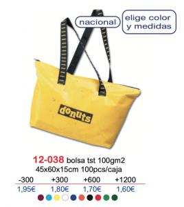 Bolsa de tela con logo 12-038