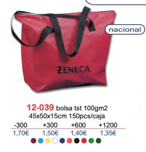 Bolsa de tela con logo 12-039