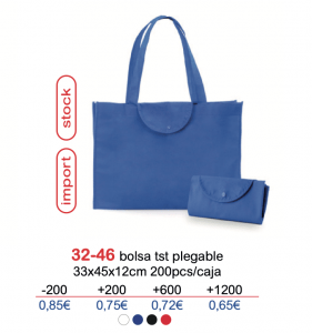 Bolsa de tela con logo 32-46