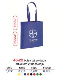 Bolsa de tela con logo 46-22