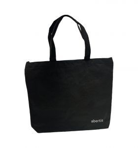 Bolsa de tela con logo abertis