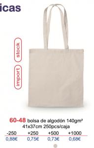 Bolsa de algodon con logo 140gm2