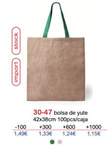 Bolsa de yute con logo
